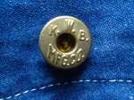 Vintage coverall button