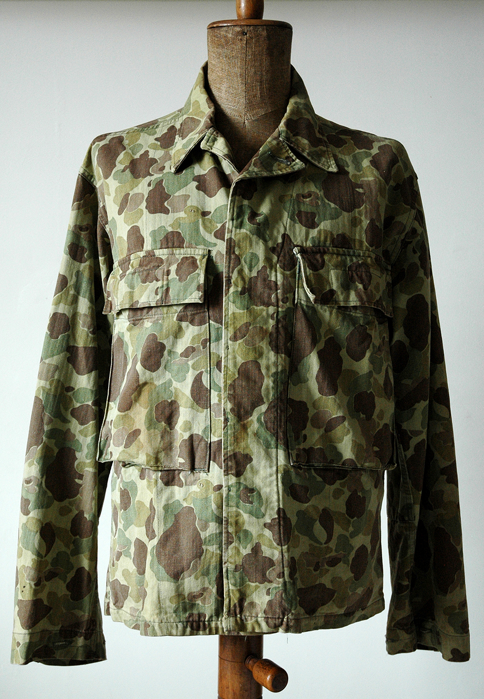 us army hbt camouflage jacket ragtop vintage clothing