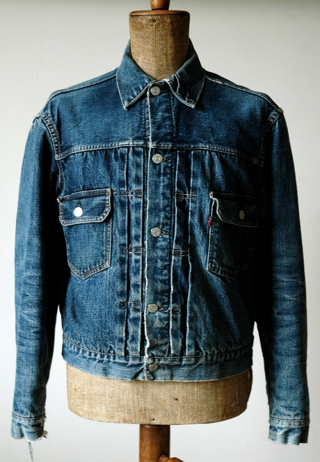 Levis 517xx type ii blanket lined ragtop vintage clothing for Types of denim shirts